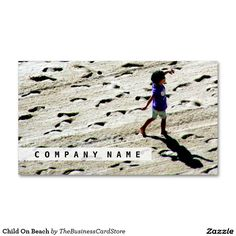Child On Beach Business Card