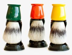 Very cool, affordable natural bristle shaving brushes--This would make such a good Father's Day gift!
