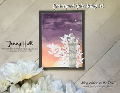 Sunsets are beautiful and easy to create with #glossywhitepaper from Stampin' Up! #graveyardgate #lovelylaurelthinlits #stampinup #artsandcrafts #cardmaking #videotutorial #processvideo #cardmakingtechniques #watercolor #diy #crafting #lifestyle #mommakes #stamping #painting #relaxing #hobbies
