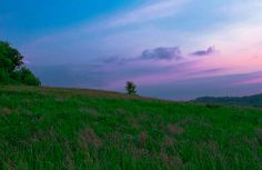 The sun sets in Daniel Boone National Forest