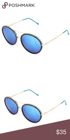 Betsey Johnson Black & Blue Aviator Sunglasses Psychedelic lenses and classic frames combine in this pair of groovy sunnies that feature 100% UV protection to keep your eyes safe from the harmful rays. bj1 Betsey Johnson Accessories Sunglasses