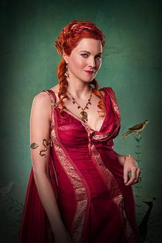 Hot redhead Lucy Lawless in Spartacus ❤ Lucy Lawless, Spartacus Women, Spartacus Tv Series, Spartacus Movie, Spartacus Workout, Spartacus Blood And Sand, Gods Of The Arena, Roman Dress, Warrior Princess