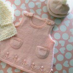 Kız Bebeklere Örgü Elbise Modelleri 76