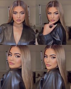 25 Pretty Makeup Looks to Try in 2019 Estilo Jenner, Kylie Jenner Look, Kylie Jenner Hair Brown, Kylie Hair, Costume Noir, Light Brown Hair, Cool Hair Color, Balayage Hair, Hair Looks