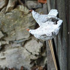 Neuletí ... Paper Mache, Garden Sculpture, Bird, Outdoor Decor, Papier Mache, Birds