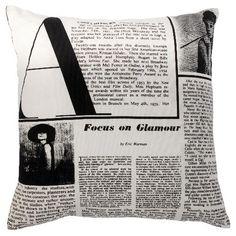 Audrey newspaper pillow