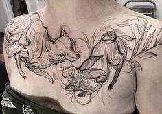 Une sélection des tatouages de l'artiste et illustratrice canadienneNaomi Chi, basée à Vancouver, qui parvient à donner à ses créations l'allure d'une e
