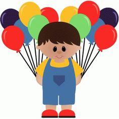 Silhueta Design Store - Ver design # 49361: Menino do aniversário com balões