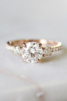 Nature Inspired Moissanite Engagement Ring Set White Gold Engagement Rings Branch and Wedding Moissanite Rings - Fine Jewelry Ideas Wedding Rings Simple, Wedding Rings Solitaire, Wedding Rings Vintage, Halo Engagement Rings, Designer Engagement Rings, Engagement Ring Settings, Bridal Rings, Vintage Engagement Rings, Unique Rings