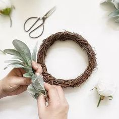 Learn how to make a farmhouse wreath with these simple steps. Farmhouse Wreaths for Sale Wreaths For Sale, Wreaths And Garlands, How To Make Wreaths, Frame Wreath, Diy Wreath, Grapevine Wreath, Decor Crafts, Diy Home Decor, Candle Rings