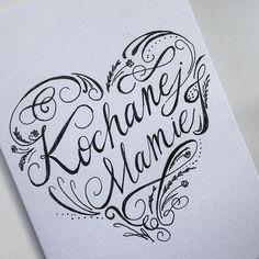 Kochanej Mamie #kochanej #mamie #kartka #urodzinowa