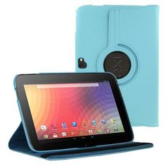 KIQ (TM) Light Blue Rotating PU Leather Case Cover for Google Nexus 10 inch Tablet with Built in Stand Automatically Wake / Sleep by KIQ. $10.95. Specifically designed for the Google Nexus 10 inch Tablet. Holds the Google Nexus 10 securely in place, while still allowing the user to access all the buttons, ports, and screen.  Smart Cover Feature that can Automatically Wakes and Sleep Your Google Nexus 10