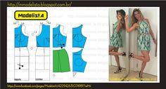 Good illustration showing how much fabric to remove from armhole for this narrow shouldered style sleeveless bodice.