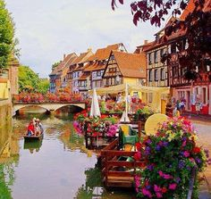 The Most Beautiful City In France - Colmar. Haven't heard of Colmar. Paris gets all the attention. Places Around The World, Travel Around The World, Around The Worlds, Vacation Destinations, Dream Vacations, Romantic Destinations, Holiday Destinations, Places To Travel, Places To See