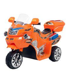 This Lil' Rider Orange Three-Wheel FX Sport Bike by Lil' Rider is perfect! #zulilyfinds