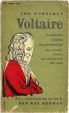 The Portable Voltaire: vintage book cover via vintageedition.