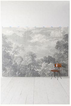 Sherwin williams honorable blue sw 6811 blue for Anthropologie wallpaper mural