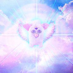 All Furbys Go To Heaven - Digital Furby Art Print. $12.00, via Etsy.