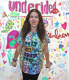 UNHATERS tshirt, color, oversize, sequins, fashion, makeup, undecided, unlovers, fun, glitter, design, shiny, club, aliens, spontaneous, irreverent, gold, pink, blue, green, white, purple, unlovers , handmade, pattern Pink Blue, Blue Green, Aliens, Sequins, Glitter, Club, Makeup, Pattern, Gold