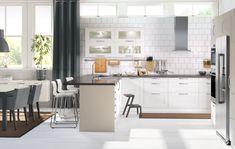 Subway Tile - Range Hood - IKEA Kitchen - Home Design - Affordable Remodel