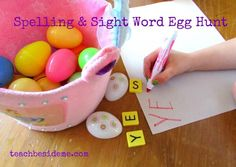 Spelling and Sight Word Egg Hunt
