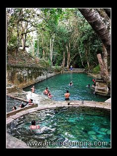 Arcilaca Thermal Hot Springs in Gracias Lempira, Honduras.