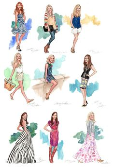 bring on the bridesmaids. illustration by inslee haynes