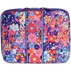 Vera Bradley Laptop Sleeve in Impressionista ($38) ❤ liked on Polyvore featuring…