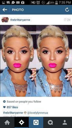 Lips! Flawless Face, Flawless Makeup, Love Makeup, Beauty Makeup, Makeup Looks, Hair Makeup, Hair Beauty, Bright Makeup, Contour Makeup