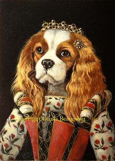 King Charles Cavalier Princessa print by BeaumontStudio on Etsy