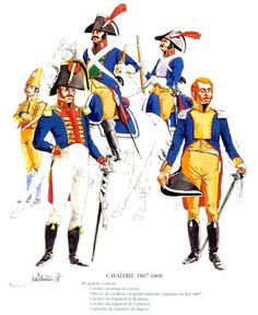 Tropas Españolas. Caballería 1807-08