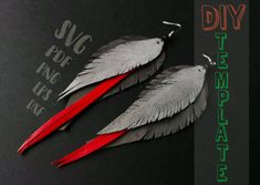 DIY Leather feather earrings SVG, Cricut SVG files, printable feather earrings, vinyl svg earrings, Silhouette cameo design earrings #VectorParrot #CricutSvgFiles #LaserCutEarrings #ParrotEarringsSvg #DiyFeatherEarrings #GreyParrotEarrings #FauxLeatherSvg #DiyErrings #VinylEaringsFile #SvgEarrings Diy Leather Feather Earrings, Diy Earrings, Feather Cut, Just Giving, Polymer Clay Jewelry, Svg Files For Cricut, Silhouette Cameo, Etsy Shop, Printable