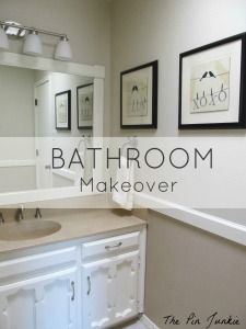 Amazing bathroom makeover!  You won't believe the before pictures!