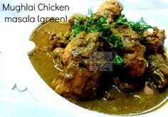 This is aromatic mughlai style chicken curry with less fat and not very rich,just to suit our taste. Mughlai food is known for its richness. It is famous for the exotic use of spices, dried fruit and nuts. The Mughals did everything in style and splendour. Since they ate very rich food they reduced the number of intake during the day. That is the reason why Mughlai recipes are rich in fat, carbohydrates and proteins.