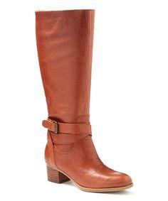 Dark Natural Vani Leather Boot #zulily #zulilyfinds
