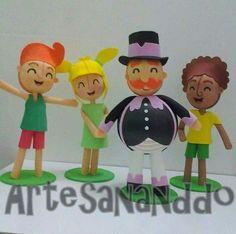 Festa Bita Bonecos EVA Fofucho Bita Mundo de Bita