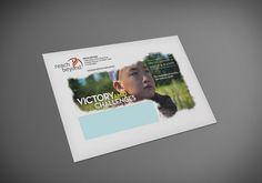 Voice & Hands Nonprofit Newsletter, quarterly magazine, envelope design,  direct mailer, non-profit marketing, Kettle Fire Creative
