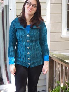 Sideways Leaf Cardigan | Craftsy