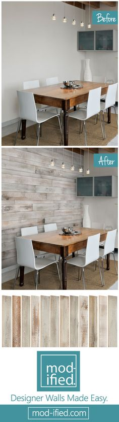 AS-IS BRAND Wood Walls are simple to install. Just glue, stick and in no time you'll have beautiful walls.