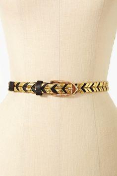 Gilded Skinny Belt - Black