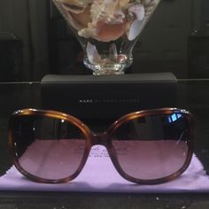 New Marc Jacobs Sunglasses These new Marc Jacobs are in perfect condition (no scratches). I ended up buying a pair with a smaller frame. Marc by Marc Jacobs Accessories Sunglasses