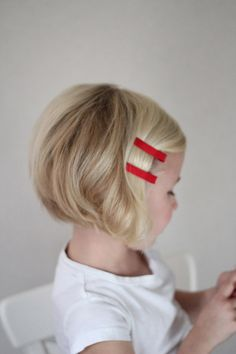 previous pinned:  Might be cute to do this to Hailey's hair when it gets warmer. Would be easier to care for, and she wouldn't mind me brushing it as much.