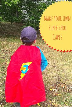 TheInspiredHome.org // Make Your Own Reversible Super Hero Cape. Faster than a speeding bullet, you can whip together this quick sewing project to delight the small person in your life. Be warned, hours of imaginative fun will follow!