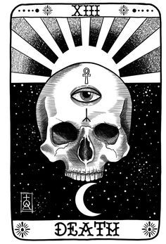 Xiii Tarot, Reaper Drawing, Tarot Death, Tarot Card Tattoo, Card Drawing, Tarot Card Meanings, Tarot Spreads, Oracle Cards, Skull Art