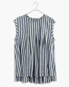 indigo stripe top