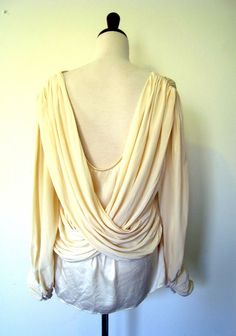 Draped Silk Blouse. Lola Vintage sold archives.