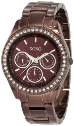 328e7d8efb7de XOXO Women s XO5458 Rhinestone Accent Chocolate Brown Analog Watch Reloj,  Relojes Geniales, Relojes De