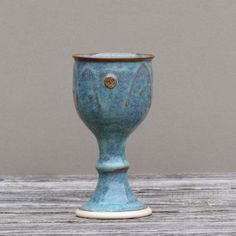 "Handcrafted by Castle Arch Pottery Ireland Some amazing features of this wine goblet: - Original design by Castle Arch Pottery - Part of the ""Glas"" Collection - Measures 7"" tall with 3"" diameter and h"