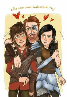 Hiccup, Dagur, and Heather. (Personally I don't like Heather so I don't usually pin things involving her but I'm making an exception because this is hilarious!)