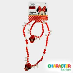 #CharacterFashion Minnie Mouse Necklace and Bracelet Set